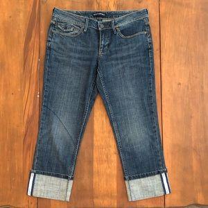 Banana Republic Medium Wash Capri Stretch Jeans